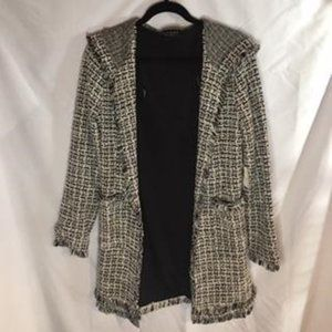 Laundry by Shelli Segal Size S B&W Boucle Jacket